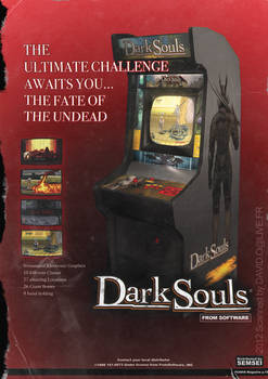 DARK SOULS Arcade Cabinet magazine ad spoof
