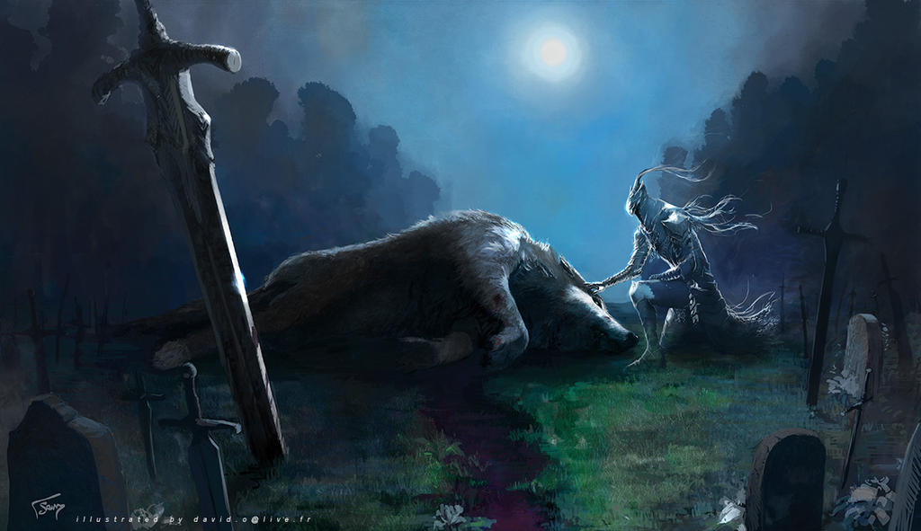 The Death of The Great Grey Wolf by semsei