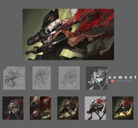 Lady Maria (Bloodborne) process jpg