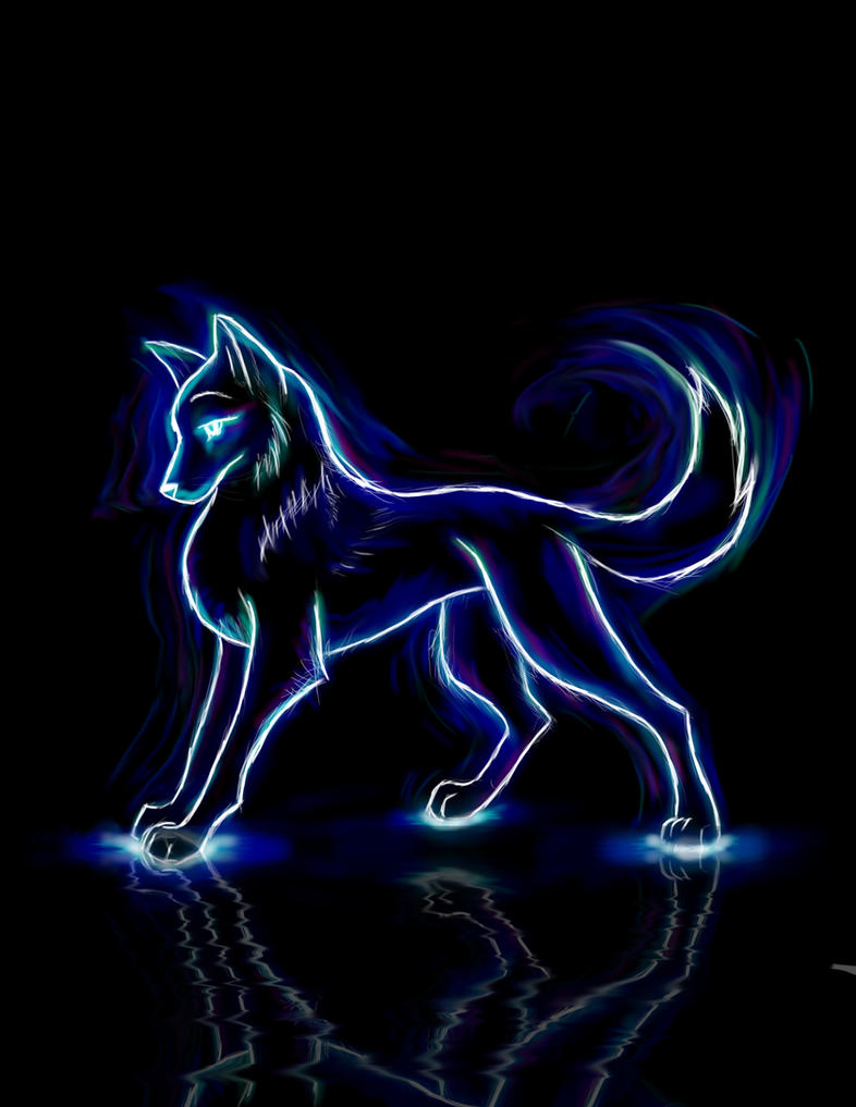 Neon Wolf By CRVail13