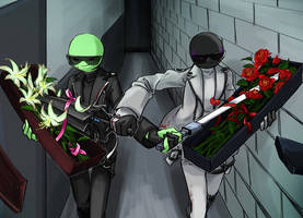 Flowers and guns by gushu009