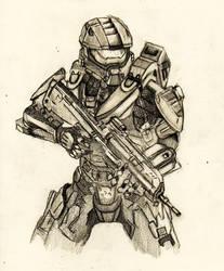 Master Chief  Spartan IV armor by Granados101