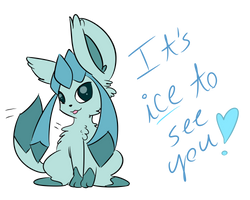Glaceon and her puns... by AmyCakes05