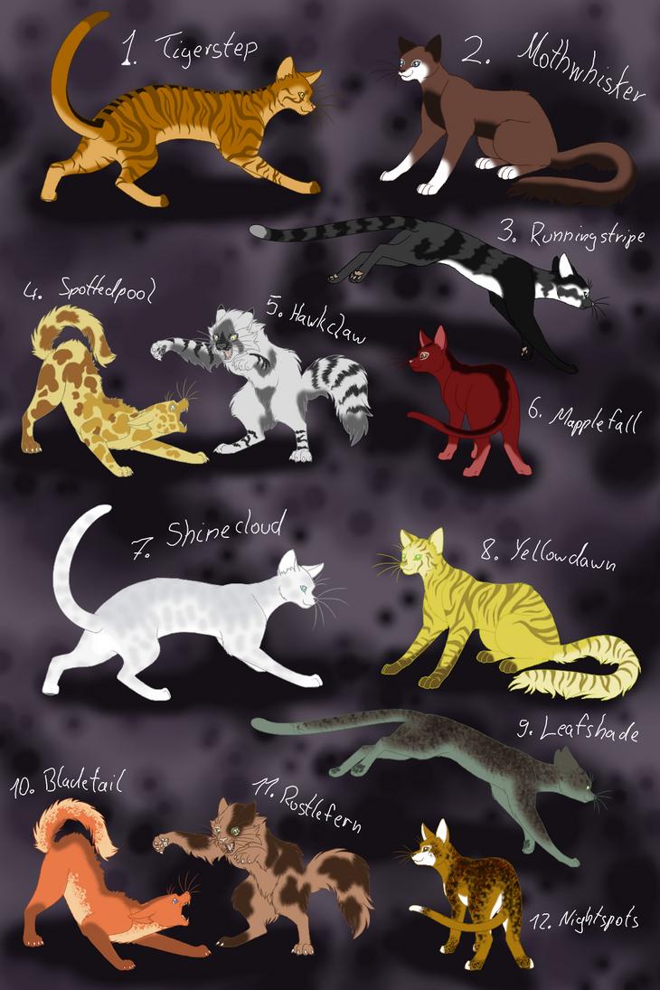 Warrior Cats Map Colors