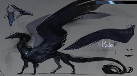 Rets refsheet| The shadow dragon by Darenrin