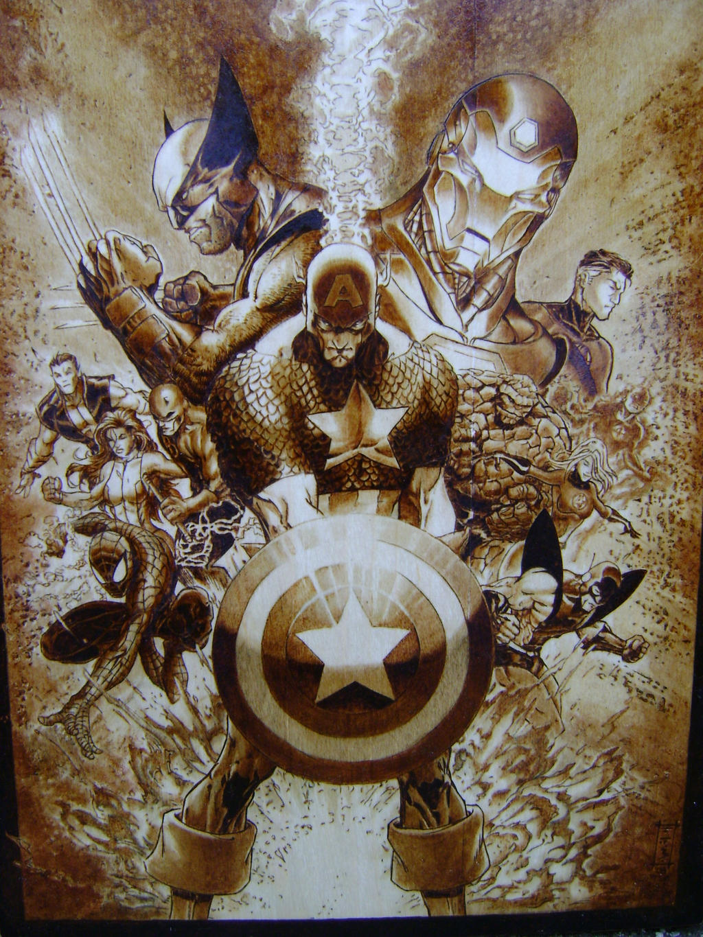 civilwar cover after turner by burninginkworks