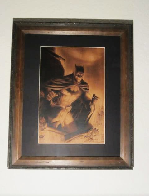 Jim lee and Alex Ross batman Framed by burninginkworks