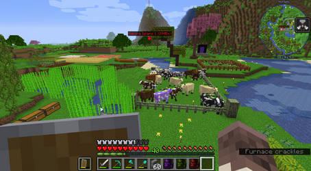 Minecraft Modded 1.16.5 - My Farm Screenshot
