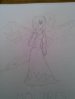Moltres Gijinka Sketch