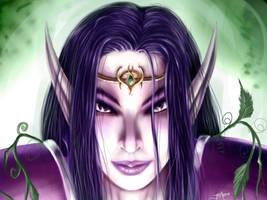 WoW Fanart - Night Elf Female by Sem-Jaza