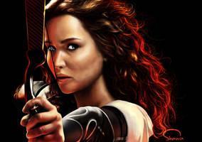 Jennifer Lawrence as Katniss in Hunger Game. by ShanaGourmet