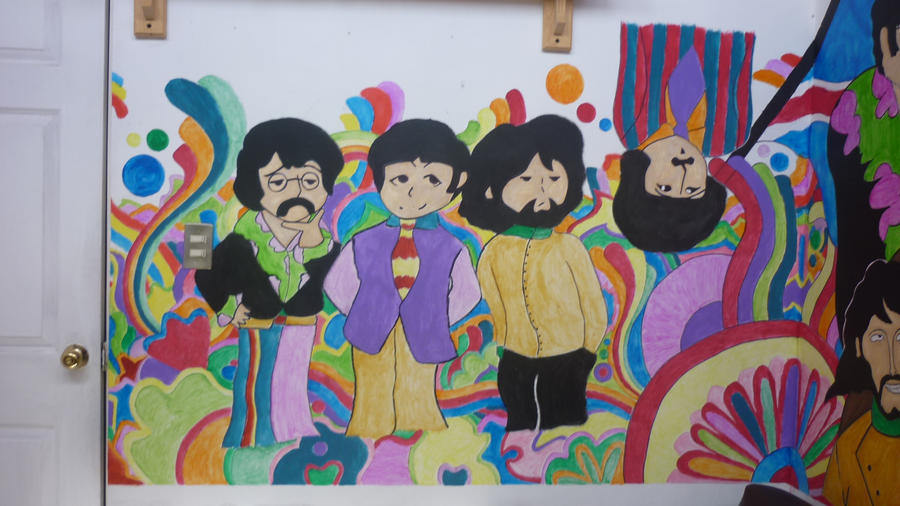 the beatles mural f m c by kicho94 on deviantart On beatles wall mural
