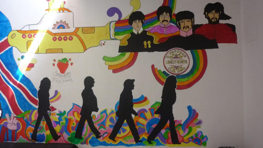 The beatles mural f m c 2 by kicho94 on deviantart for Beatles wall mural