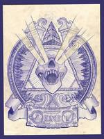 Illuminati Demon Head by wolffoss