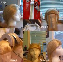 Larxene Wig tutorial by nikkiolie