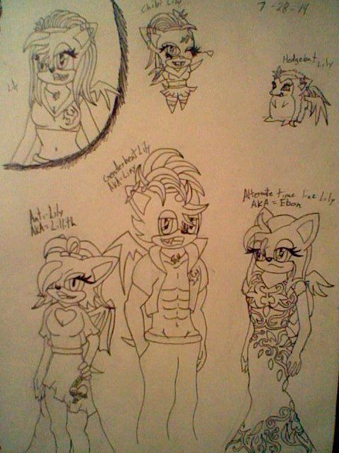 Lily Alternate forms by Cyberwolf7777