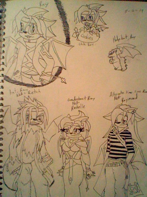Ray's alternate forms by Cyberwolf7777