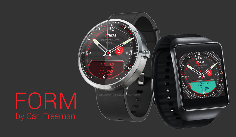 FORM - Android Wear watch face for WearFaces app by DrawswithaPC