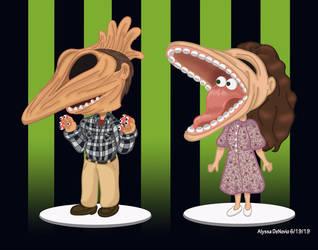 Adam and Barbara Maitlands Funko Pop by Artlyss