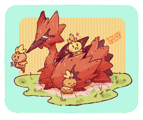 Galarian Zapdos And little Torchics