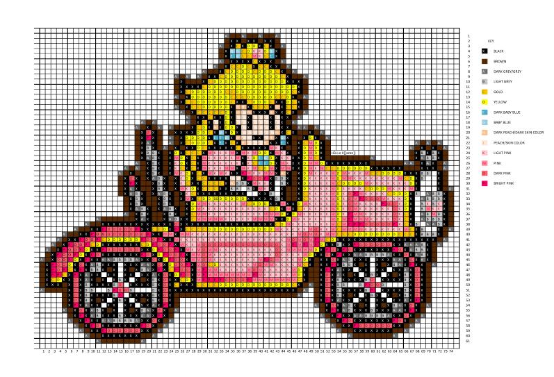 Paper Peach in Car pattern by H3LLoK66aren99