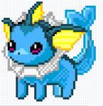 Vaporeon Pixel Pattern