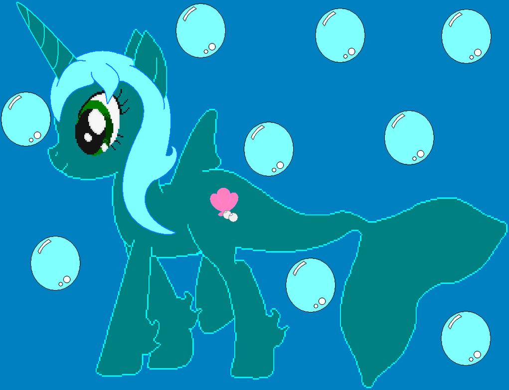 .:Seashell Pearl the Sea Pony:. by ZabrinatheDiverhog