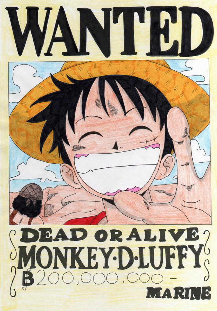 Monkey d luffy 11 by candycanecroft on deviantart - One piece wanted luffy ...