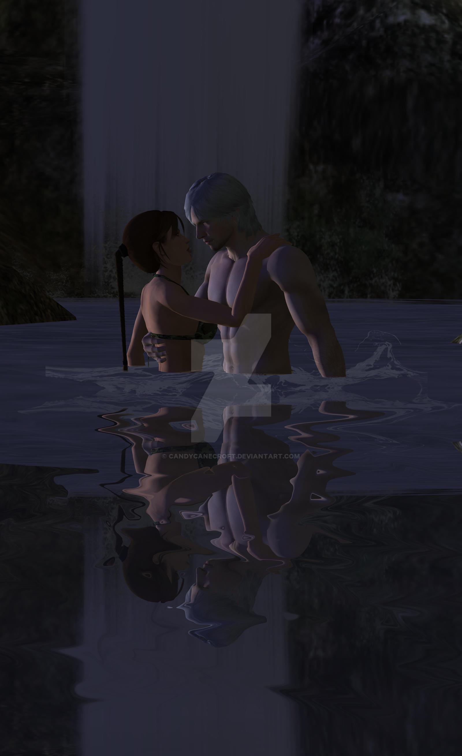 Dante X Lara Croft 115 by candycanecroft