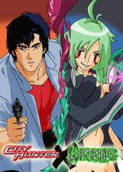 City Hunter x Witchblade cover by candycanecroft
