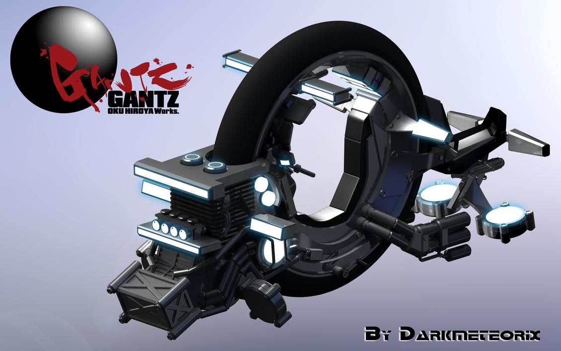 Gantz Bike Render Test by Darkmeteorix