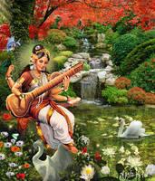 Saraswathi Devi by ajishrocks