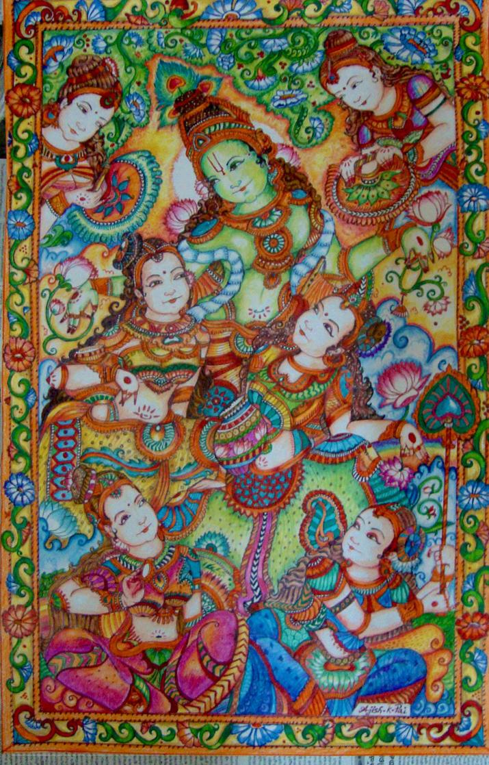 Krishna Gopika! by ajishrocks