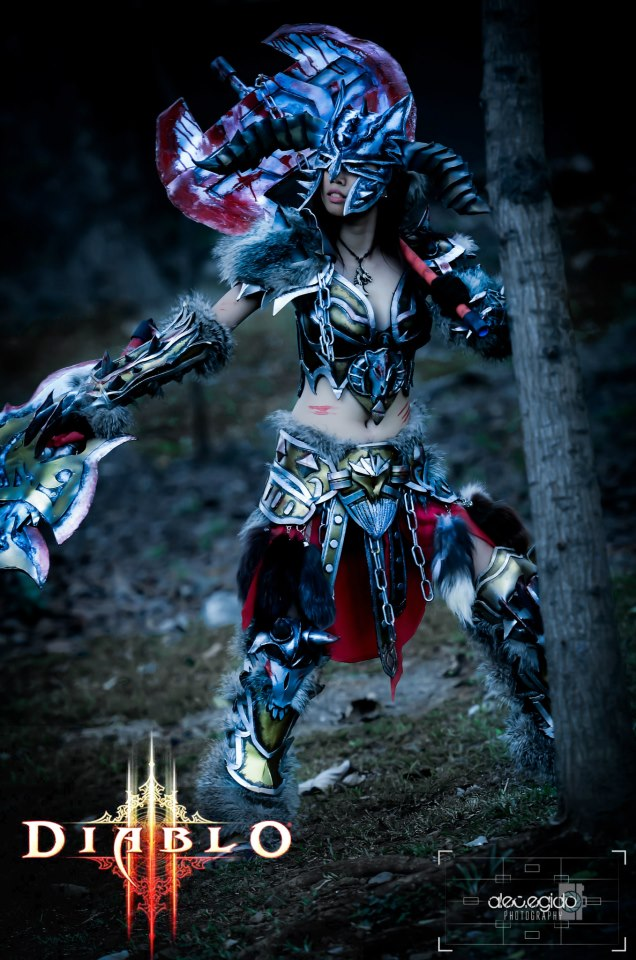 Barbarian diablo 3 female by JohnBetita