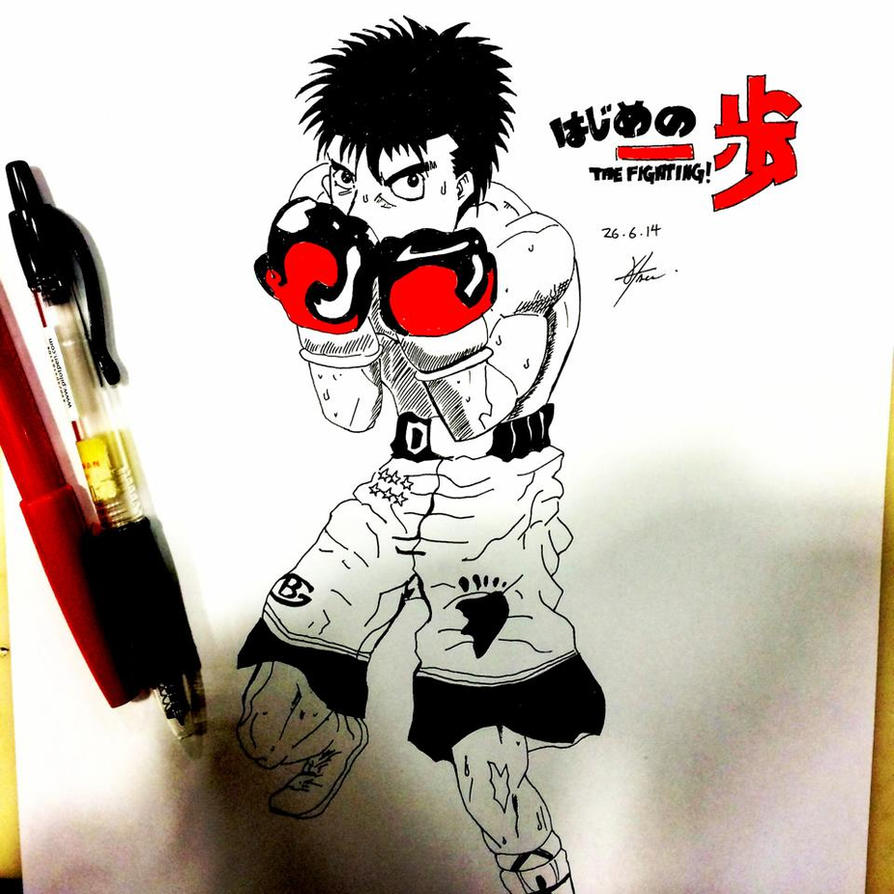 Hajime No Ippo Sketch By Vizhuel On DeviantArt