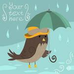 Mr Sparrow with Umbrella