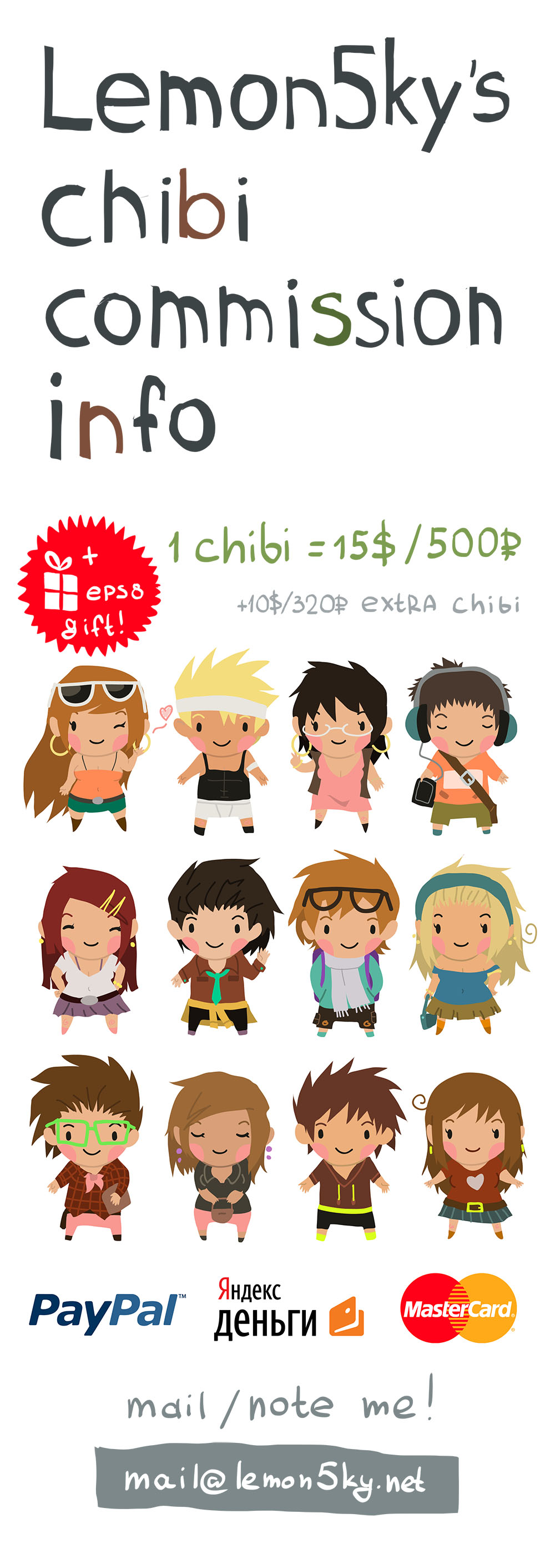 Chibi Commission by lemon5ky