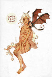 Daenerys Targaryen commission by lemon5ky