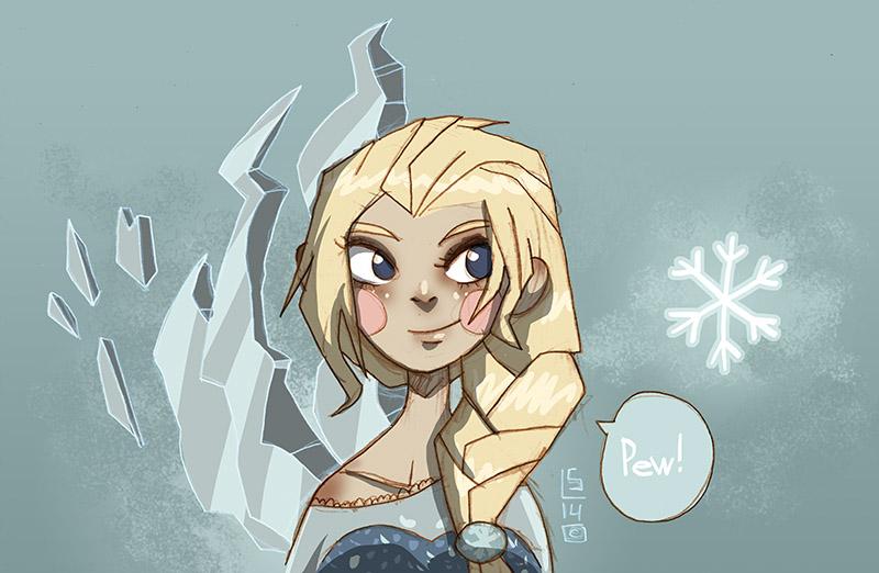 Elsa Frozen by lemon5ky