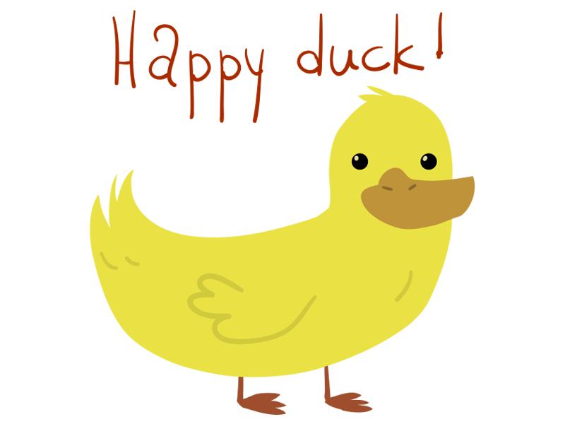 Happy Duck by lemon5ky