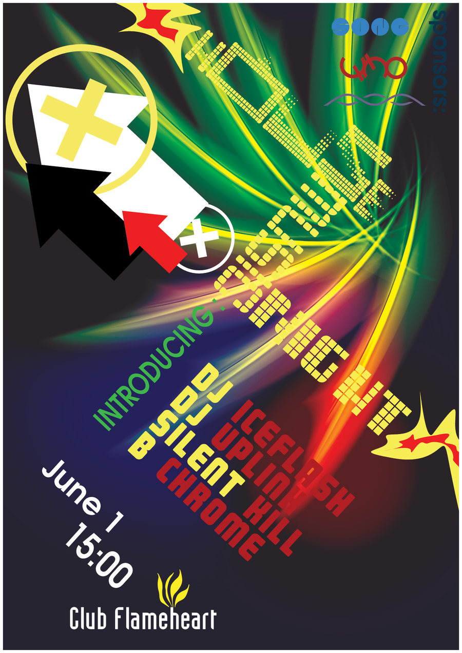 House music night poster by 32 d3519n on deviantart for House music art