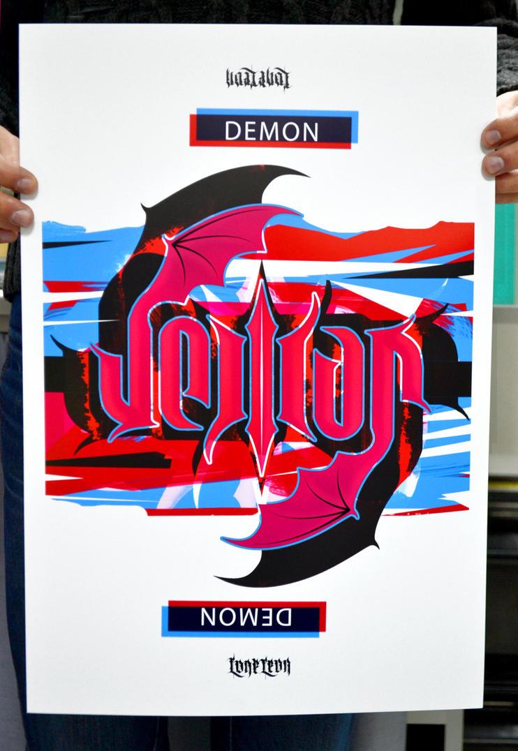 Mirroring logotype demon everywhere by 32-D3519N