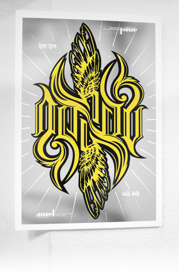 Ambigram angel3K by 32-D3519N