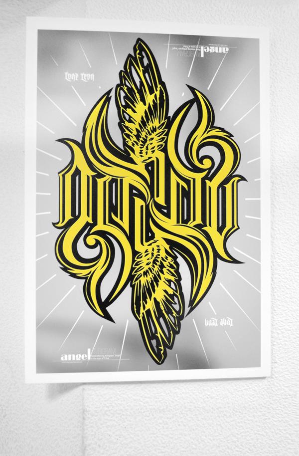Ambigram angel3K by 32-D3519N