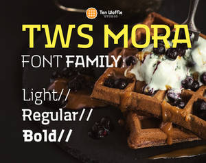TWS MORA 3 weght typeface