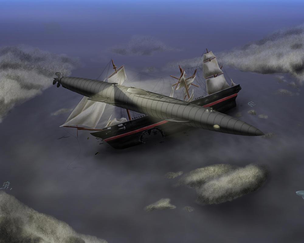 Jules Verne's Nautilus by tauceti
