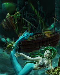 WIP: Mermaid commission by tauceti