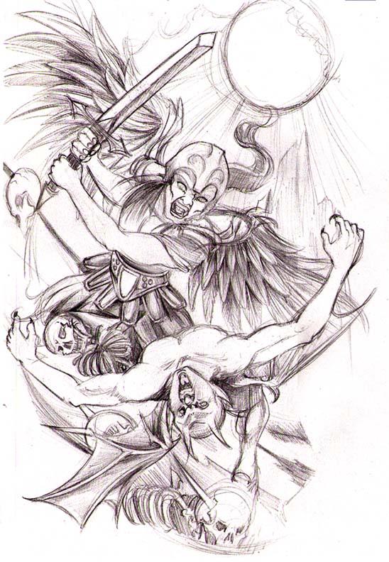 angels vs demons war tattoo - photo #30