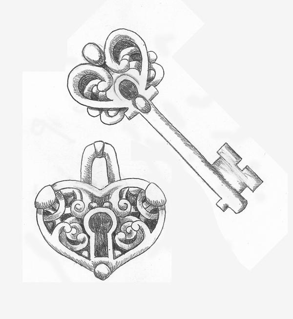 heart shaped lock and key couples tattoo design by srtaquesadilla on deviantart. Black Bedroom Furniture Sets. Home Design Ideas