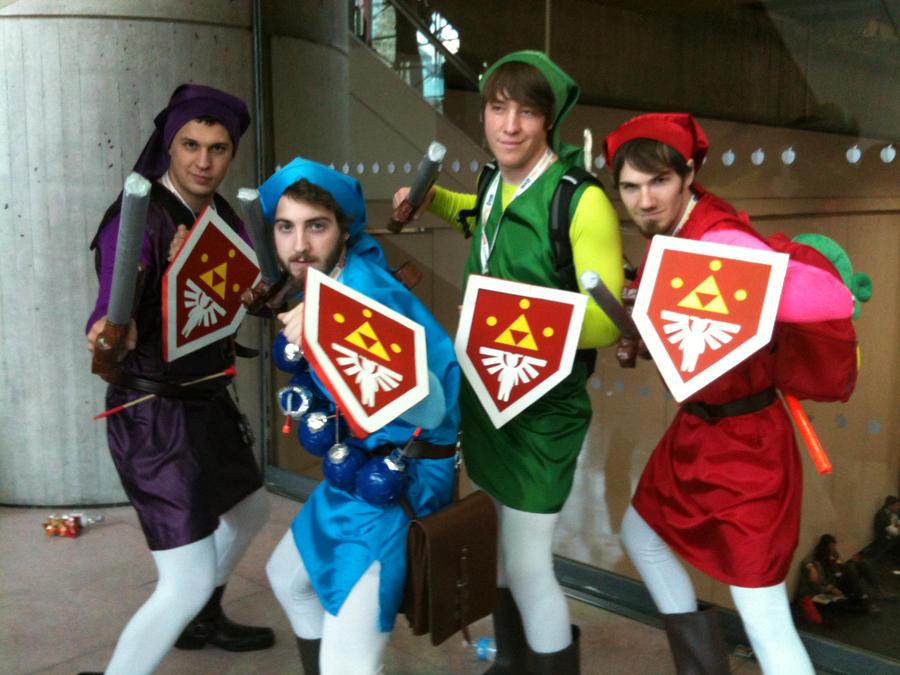 Link Four Swords Cosplay Four Swords Links @ Ne...